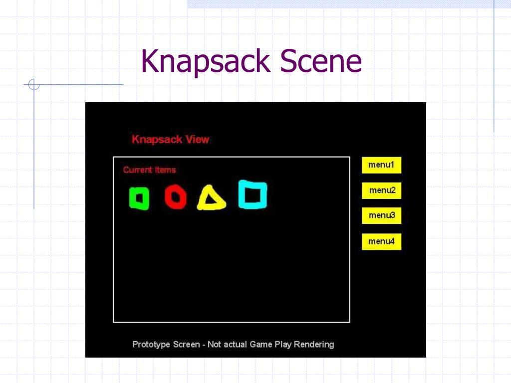 Knapsack Scene