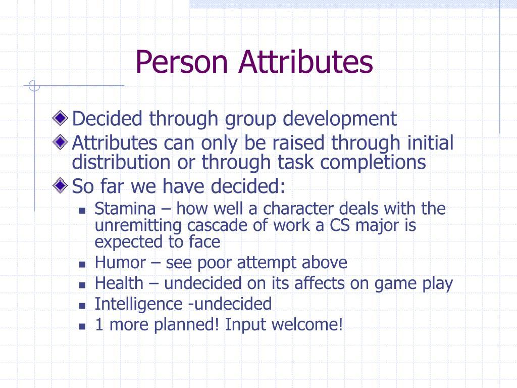 Person Attributes