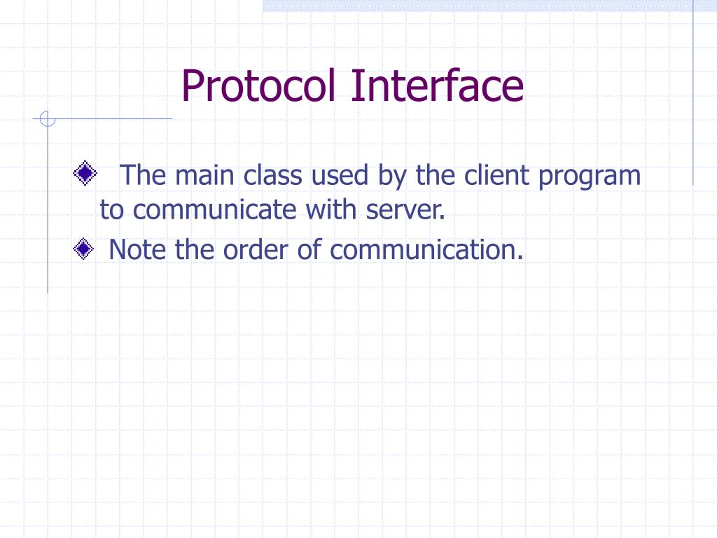 Protocol Interface