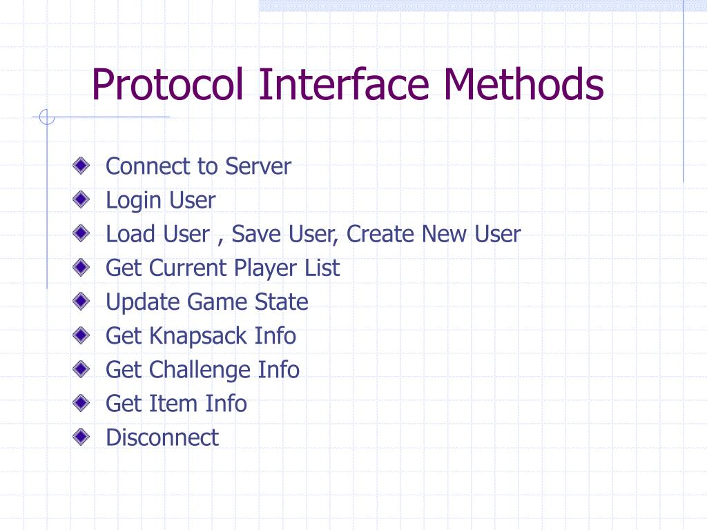 Protocol Interface Methods