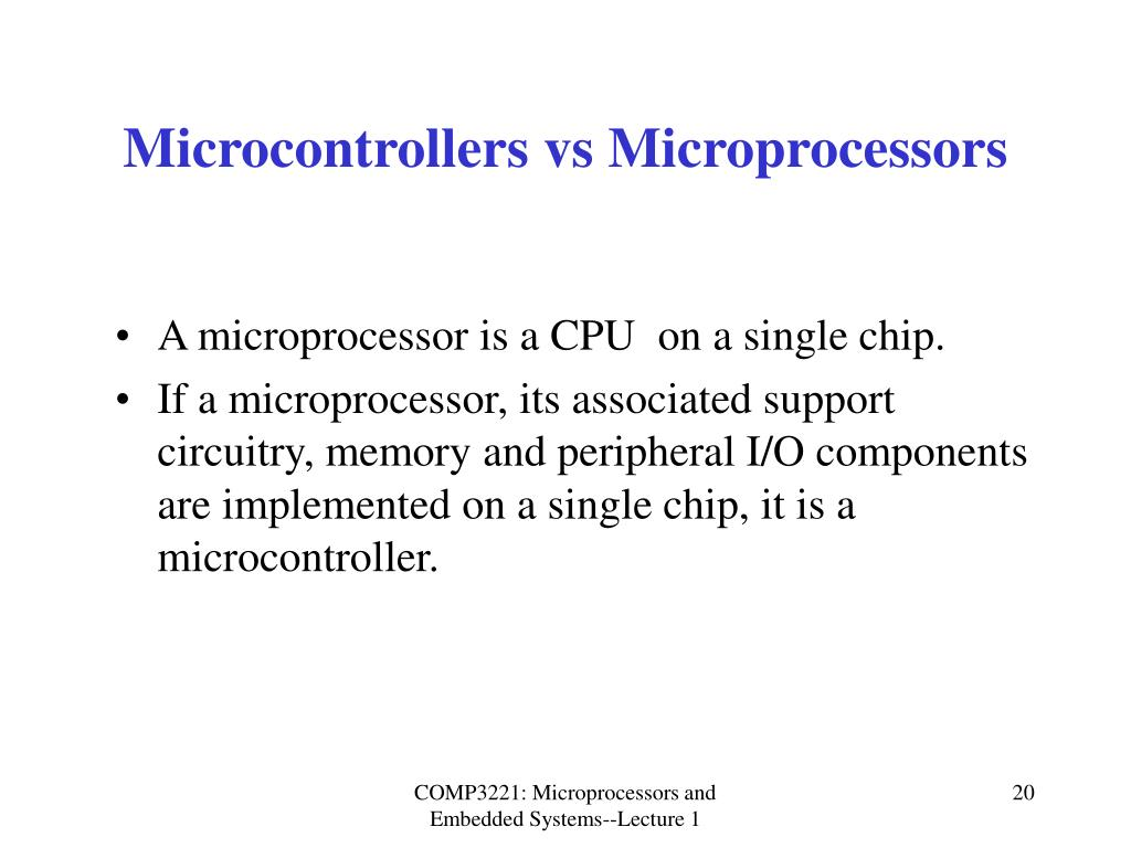 Microcontrollers vs Microprocessors