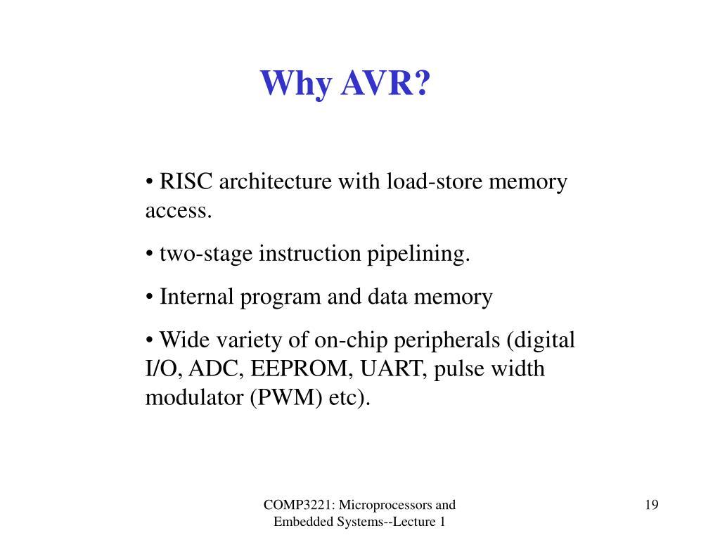 Why AVR?