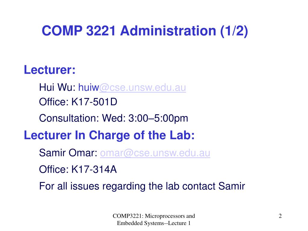 COMP 3221 Administration (1/2)