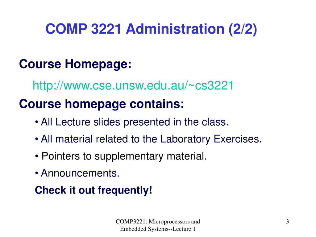 COMP 3221 Administration (2/2)