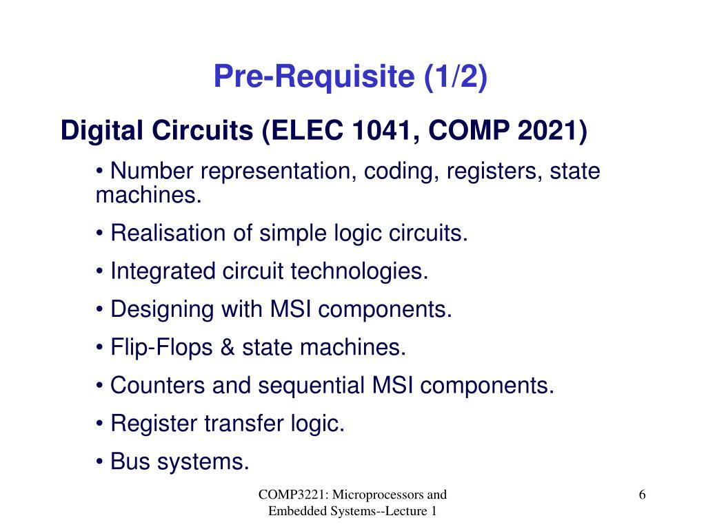 Pre-Requisite (1/2)