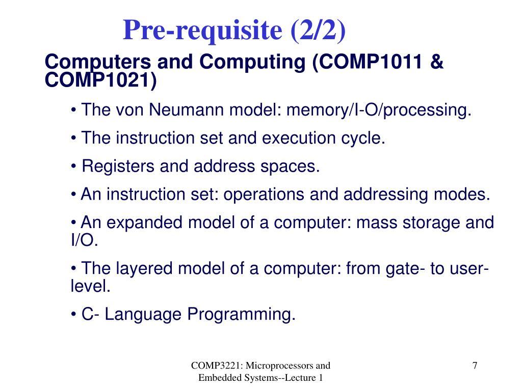 Pre-requisite (2/2)