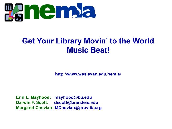 Get Your Library Movin' to the World Music Beat!