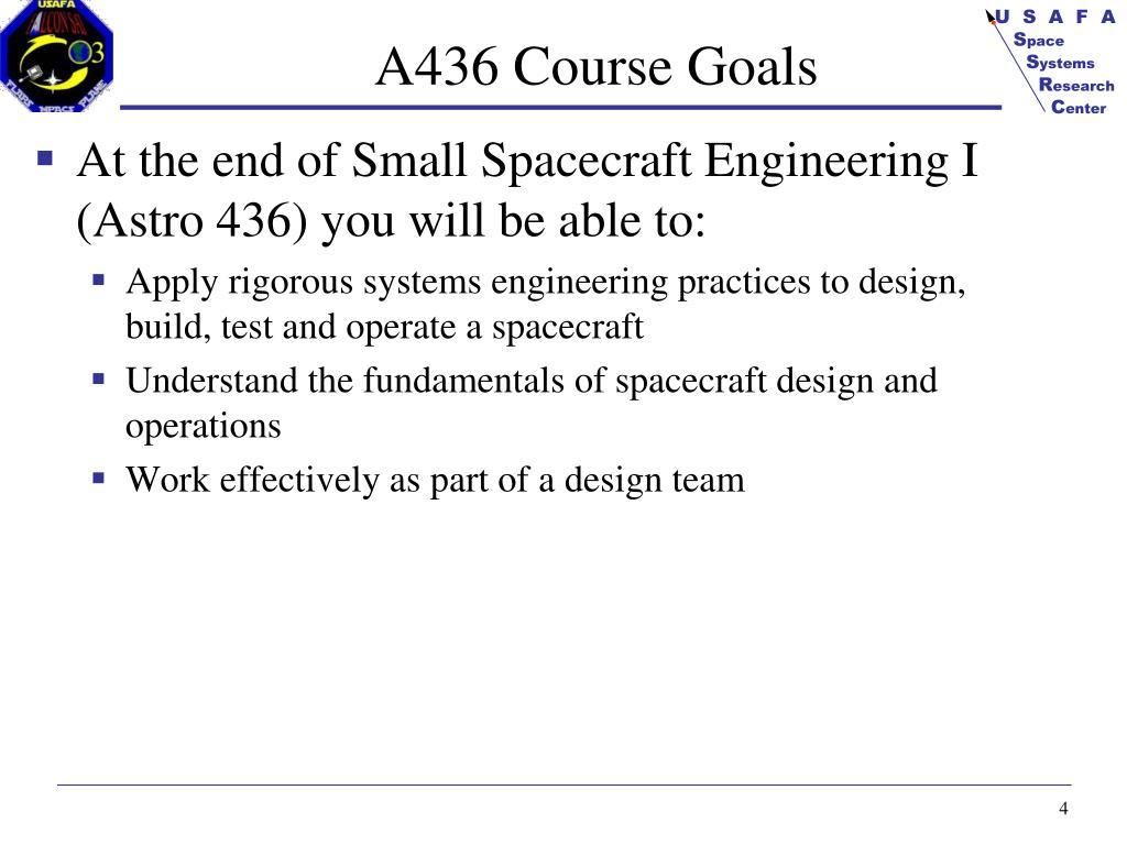 A436 Course Goals