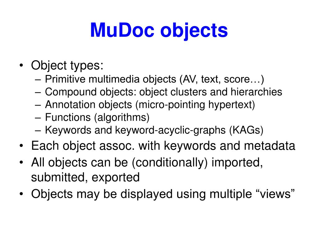 MuDoc objects