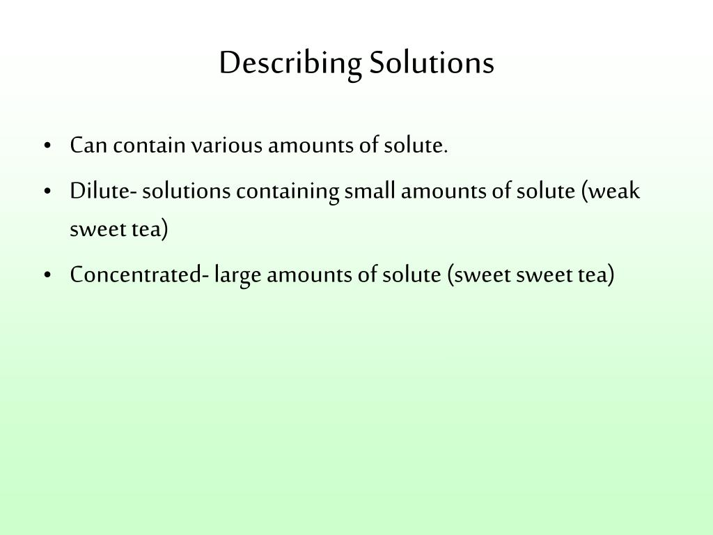 Describing Solutions