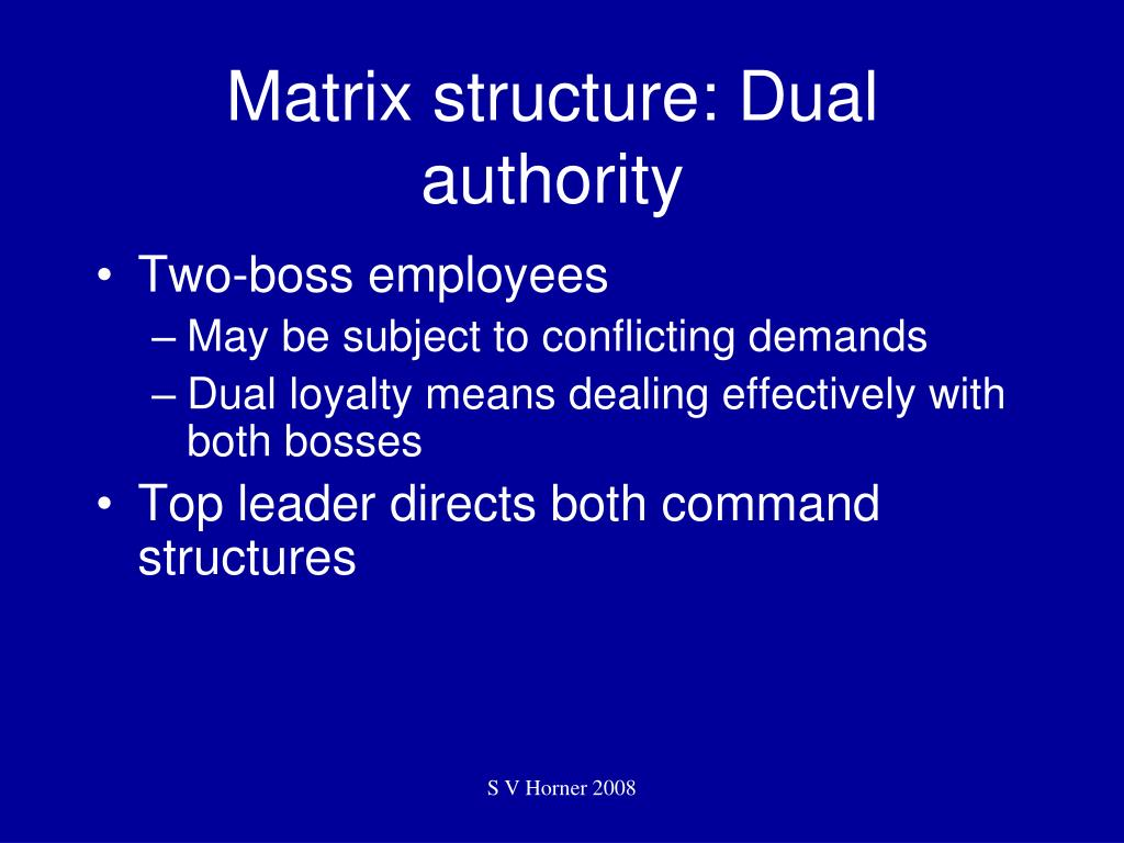 Matrix structure: