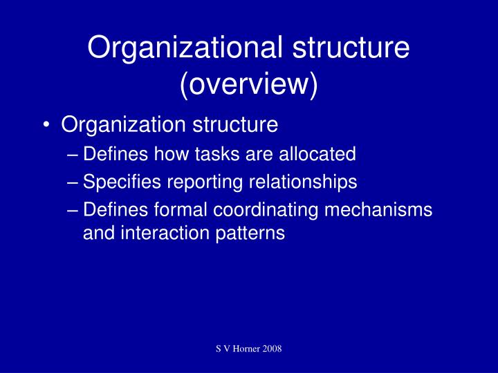 Organizational structure overview l.jpg