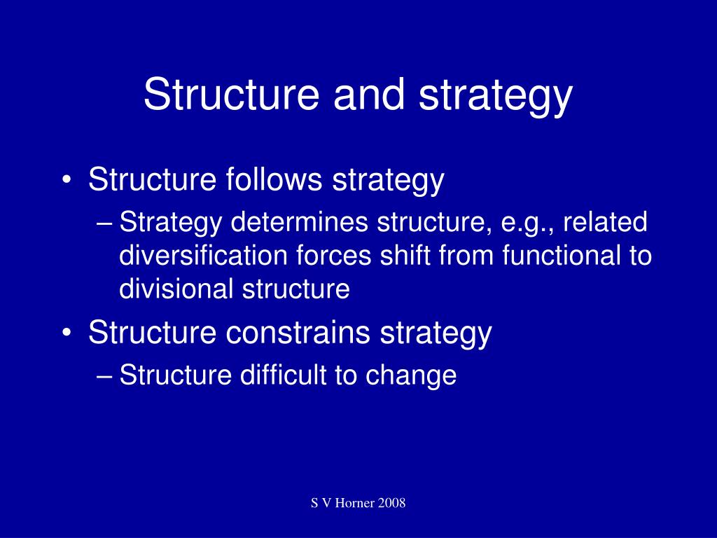 Structure and strategy