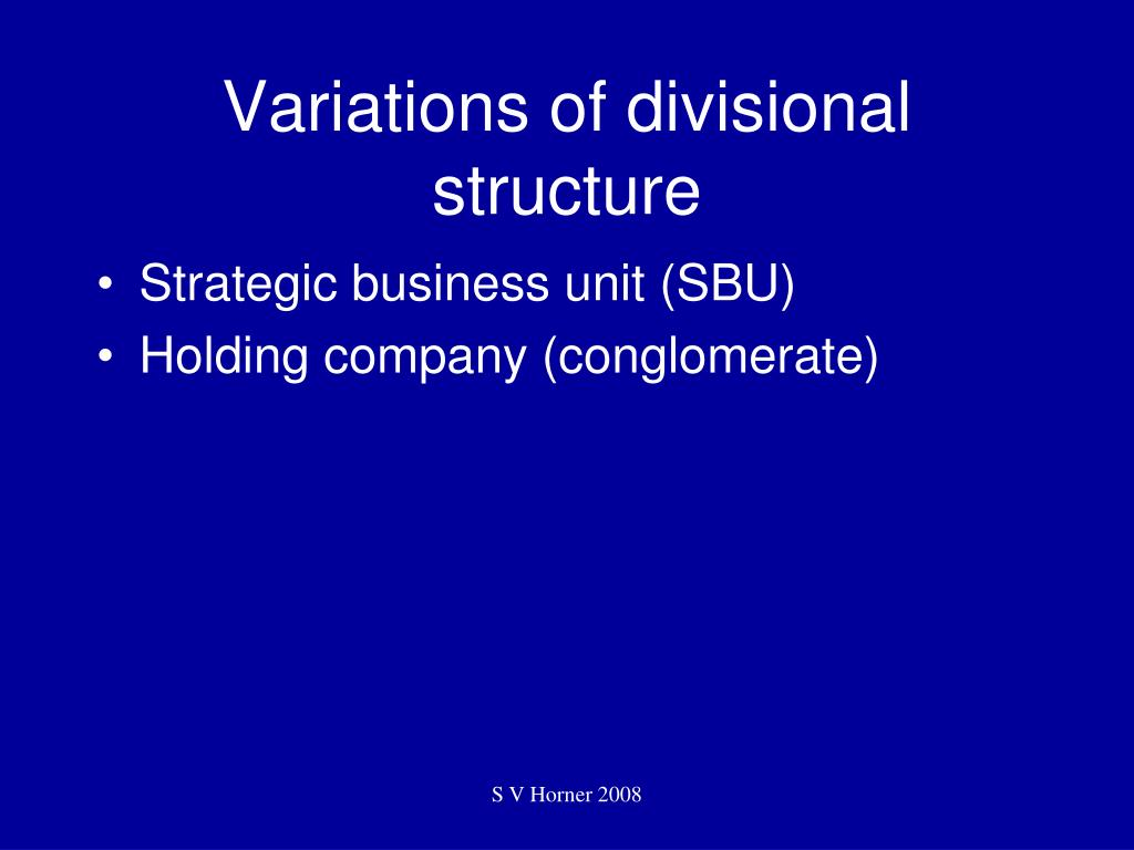 Variations of divisional structure