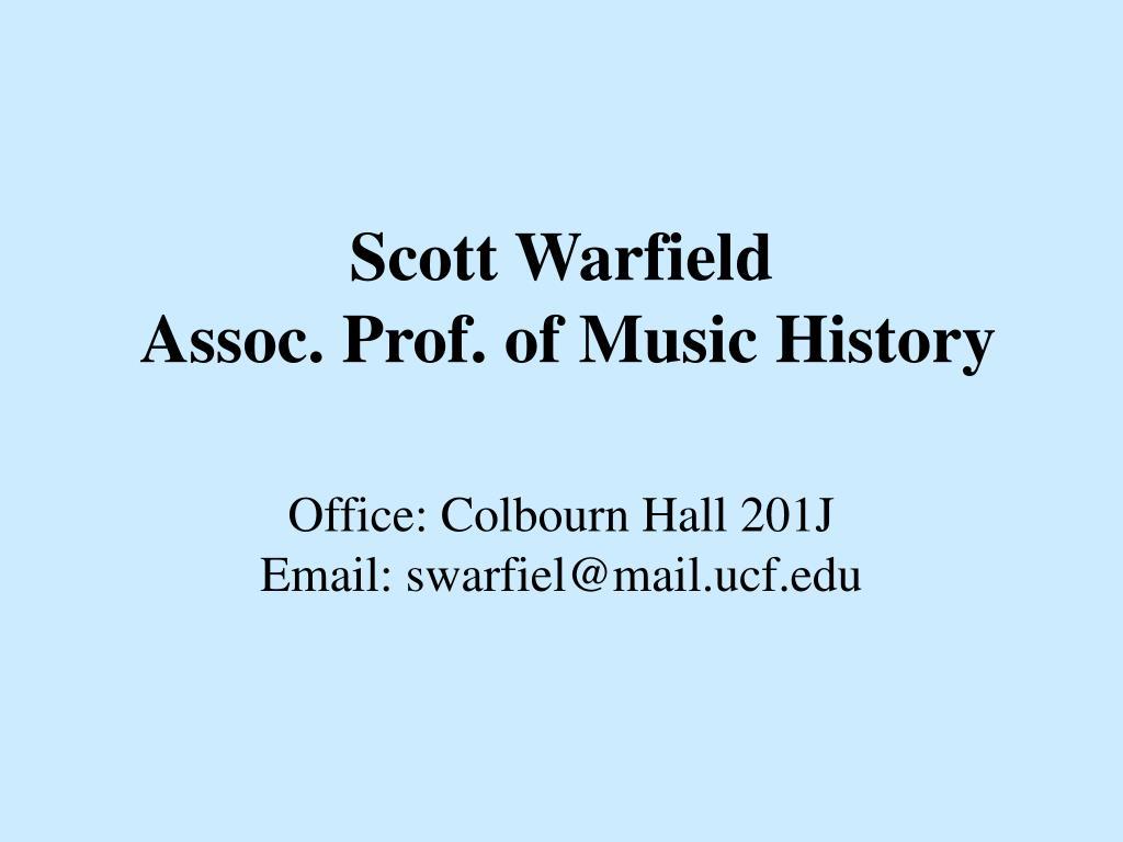 Scott Warfield