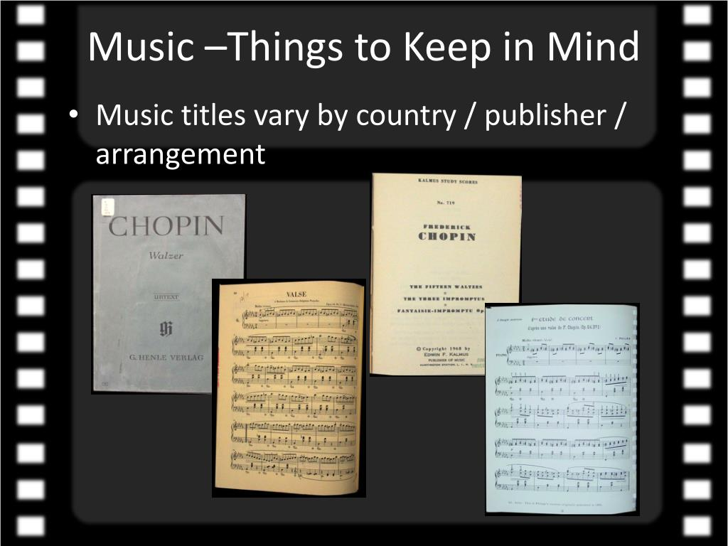 Music –Things to Keep in Mind