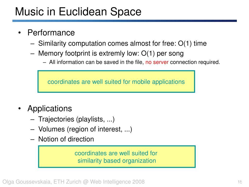 Music in Euclidean Space