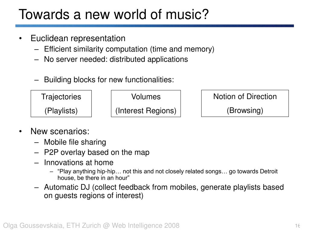 Towards a new world of music?