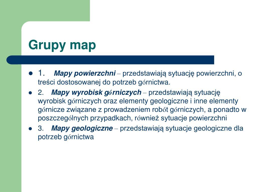 Grupy map
