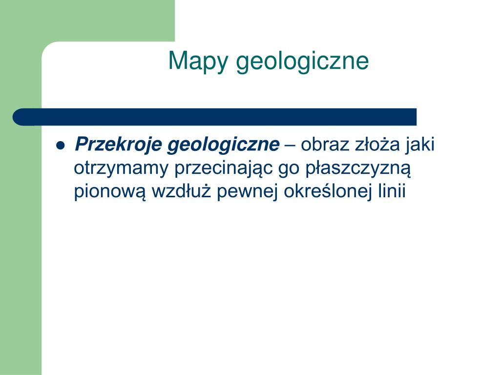 Mapy geologiczne