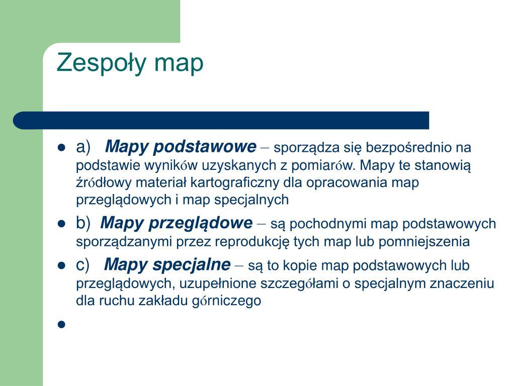 Zespoły map