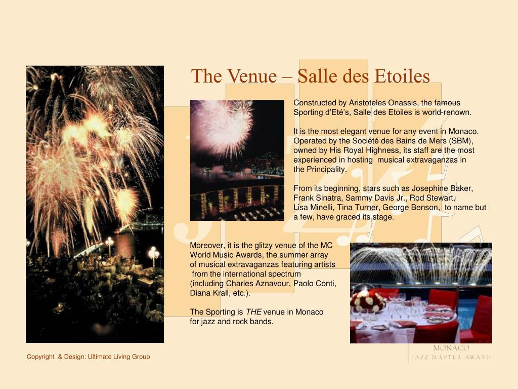The Venue – Salle des Etoiles