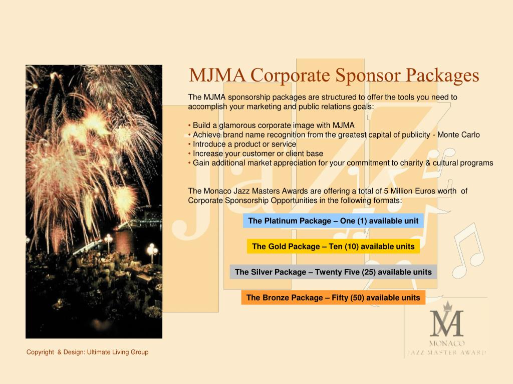 MJMA Corporate Sponsor Packages