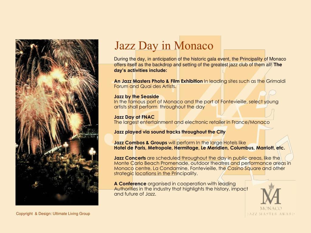 Jazz Day in Monaco