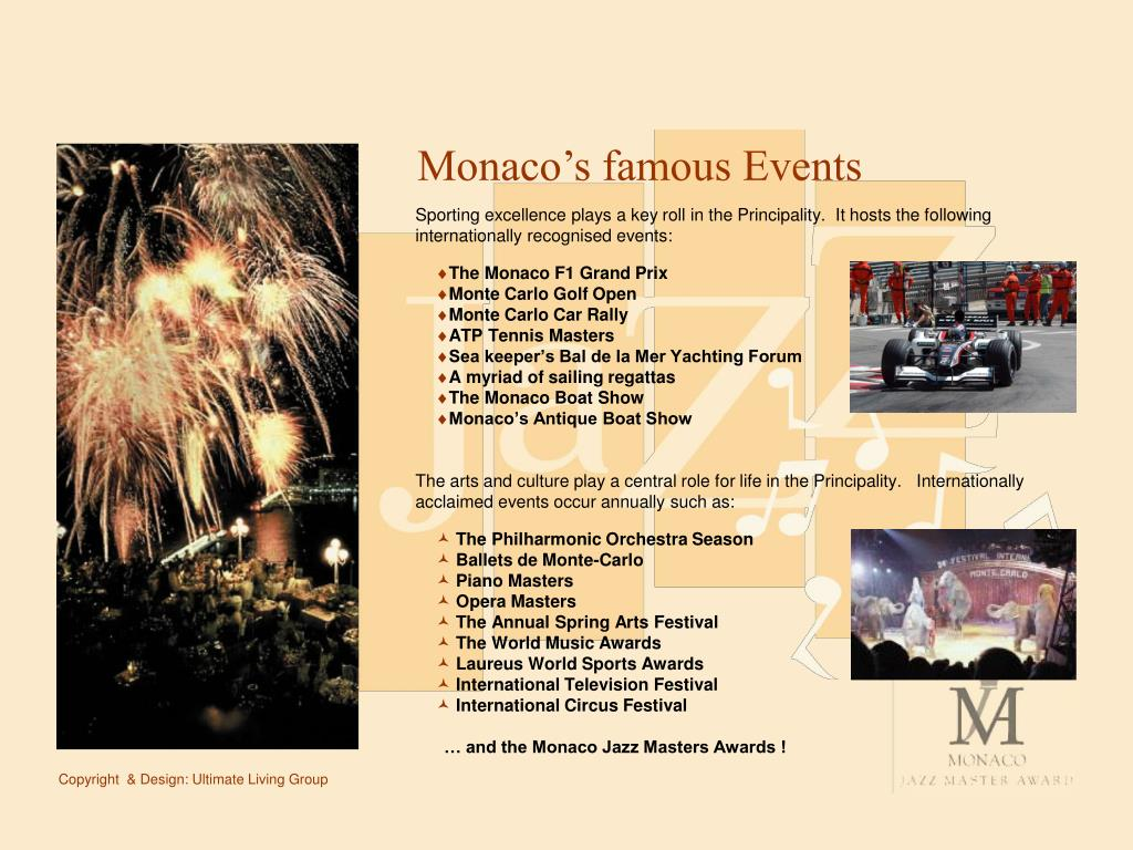 Monaco's famous Events