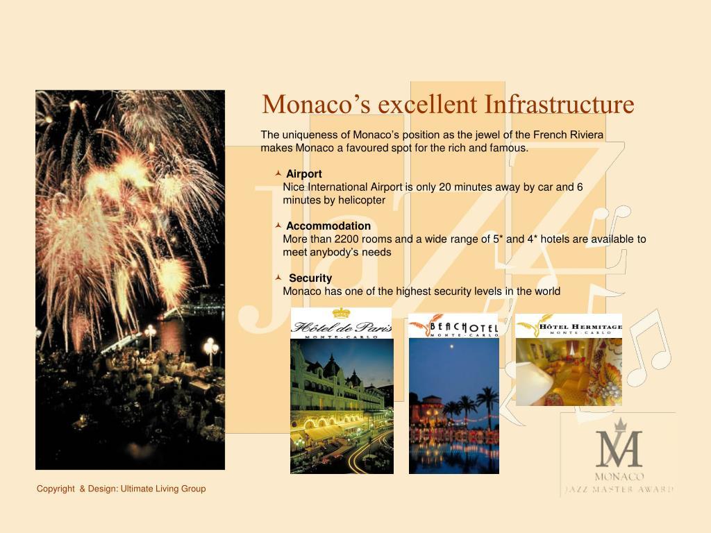 Monaco's excellent Infrastructure