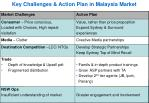 key challenges action plan in malaysia market