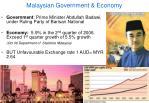 malaysian government economy