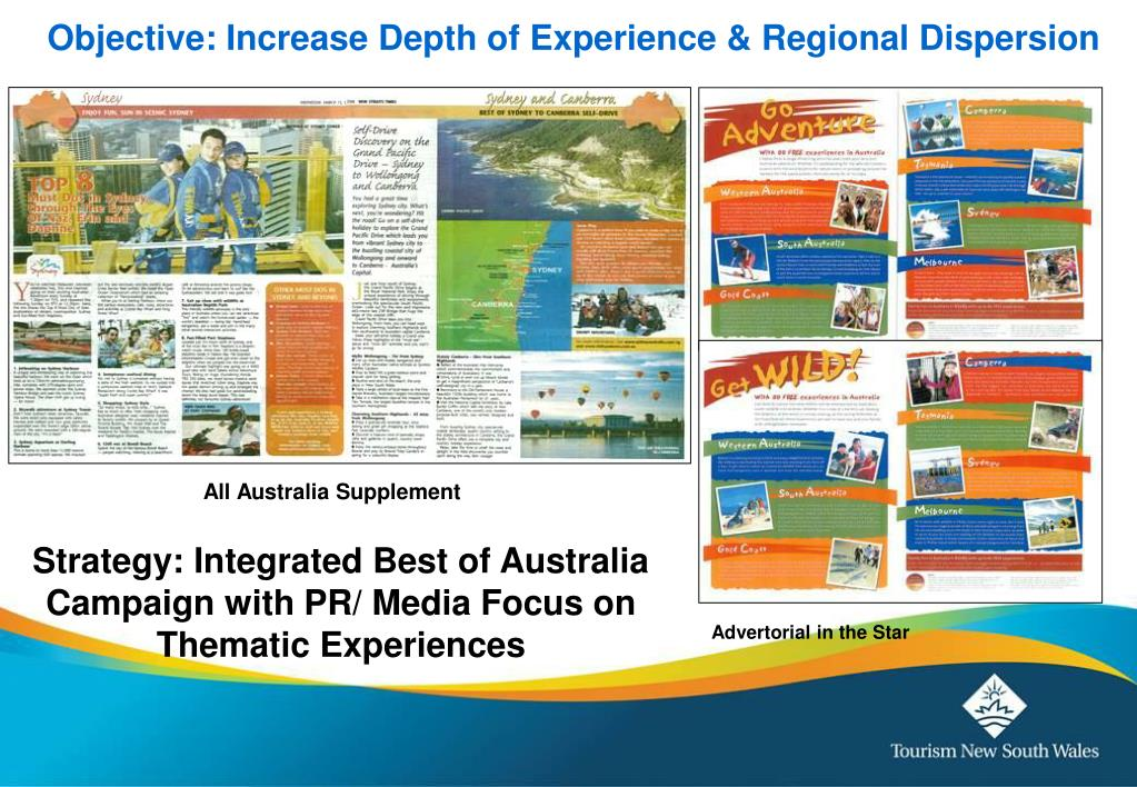 Objective: Increase Depth of Experience & Regional Dispersion