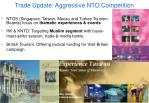 trade update aggressive nto competition