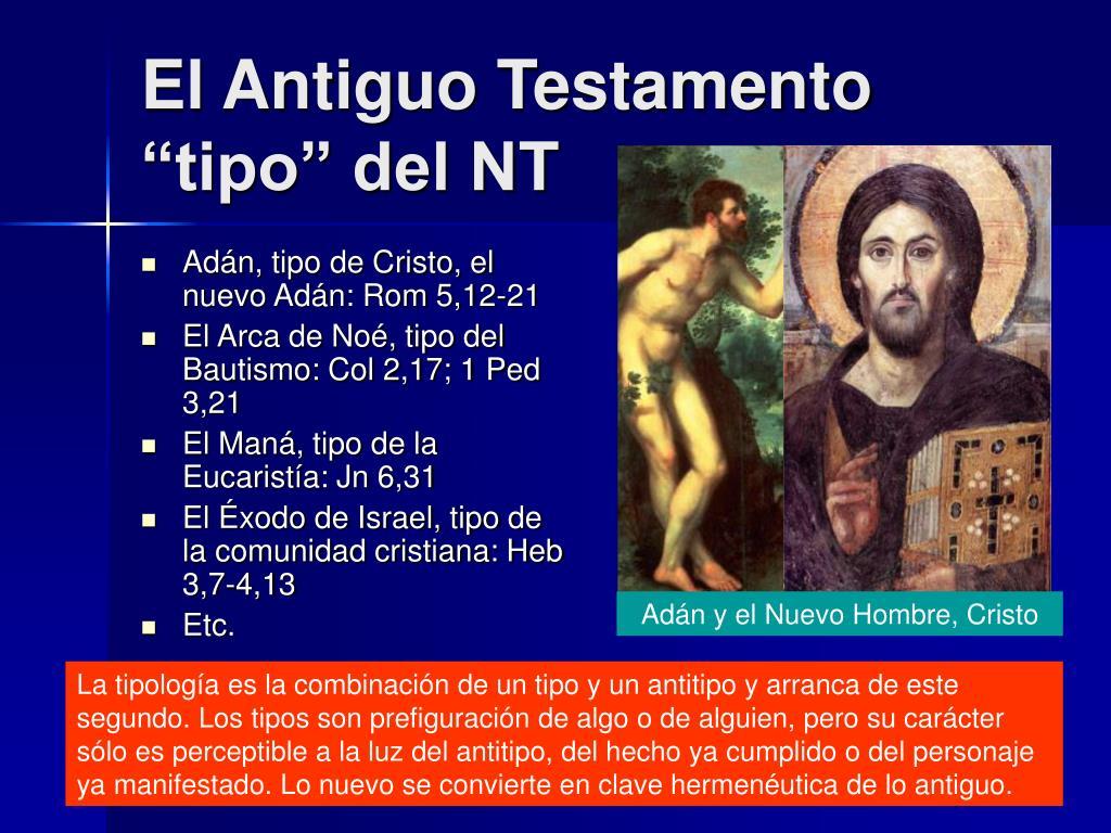 """El Antiguo Testamento """"tipo"""" del NT"""