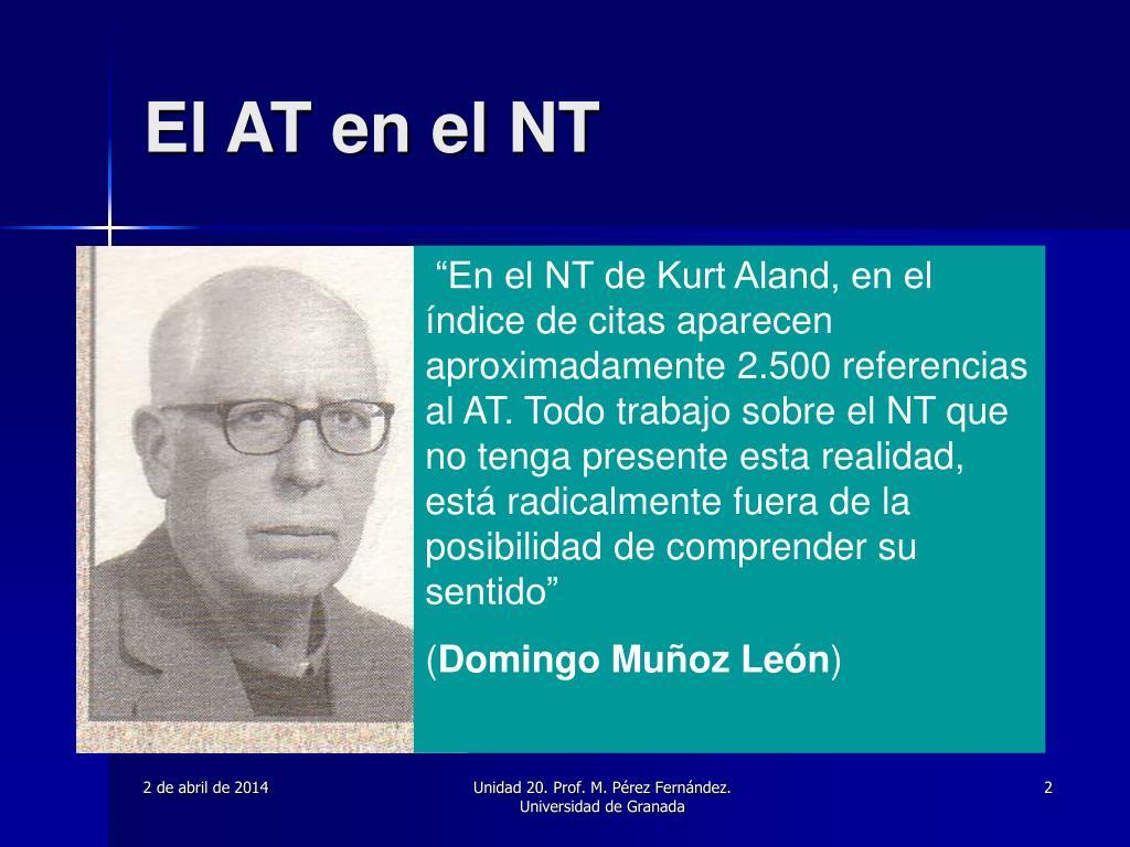 El AT en el NT