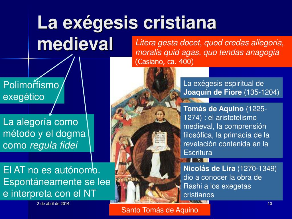 La exégesis cristiana medieval