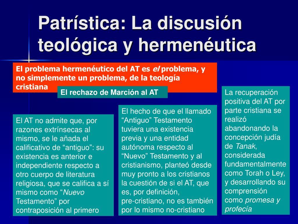 Patrística: La discusión teológica y hermenéutica