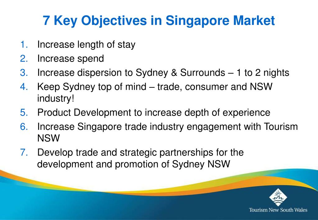 7 Key Objectives in Singapore Market