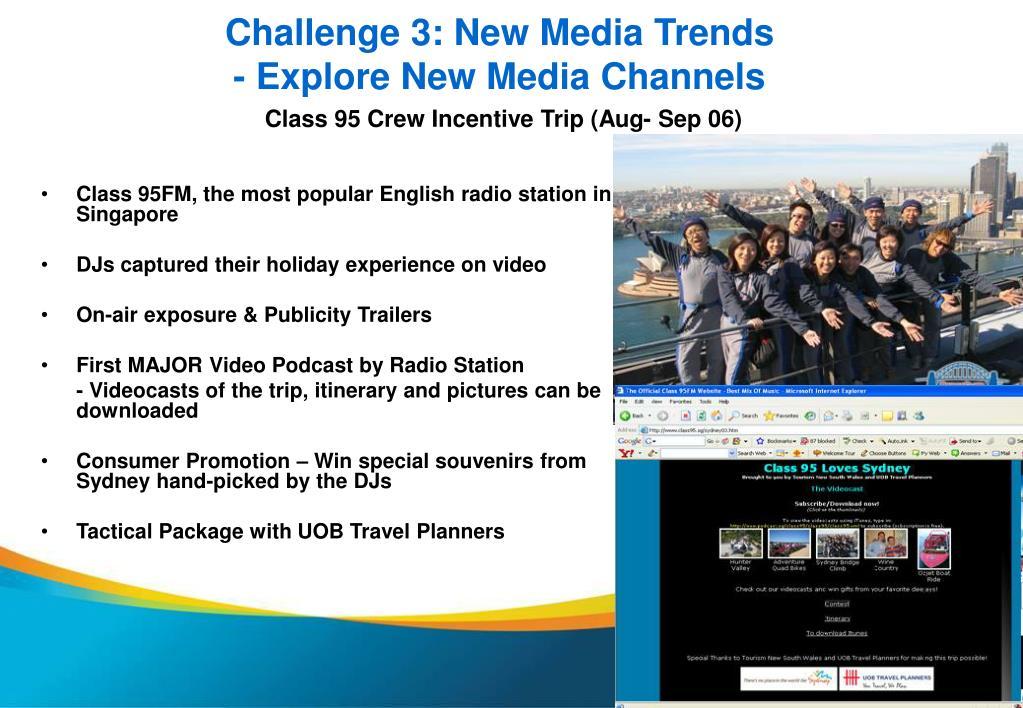 Challenge 3: New Media Trends