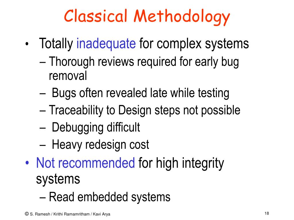 Classical Methodology