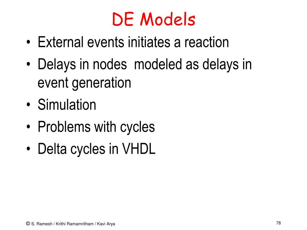 DE Models