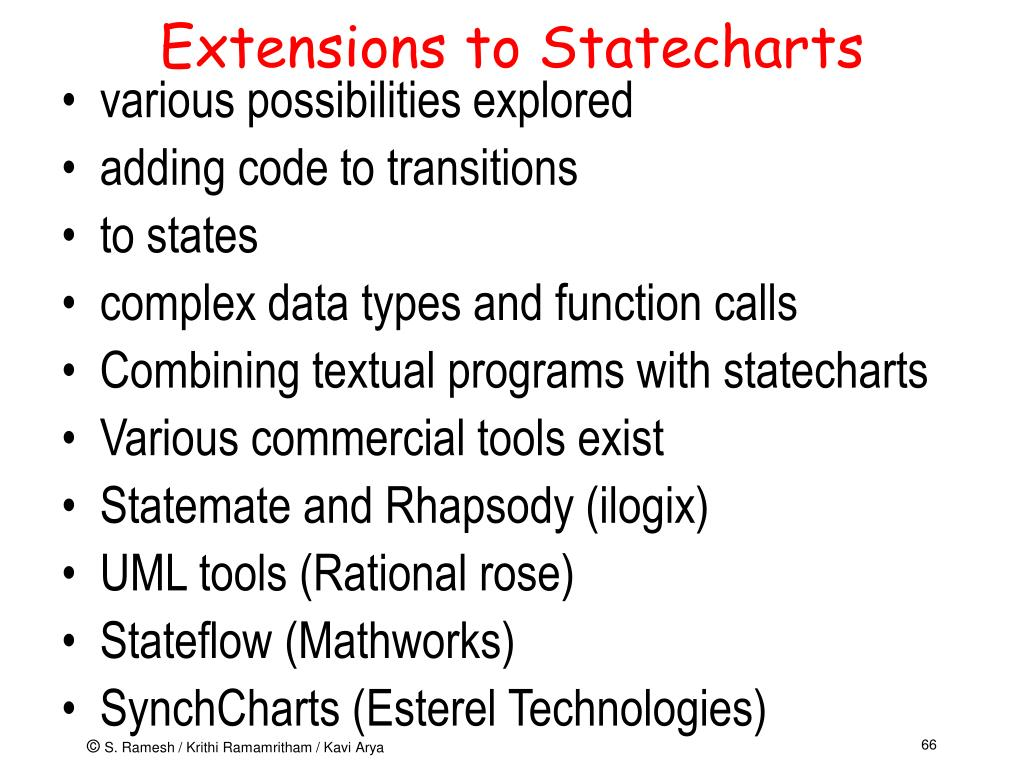 Extensions to Statecharts