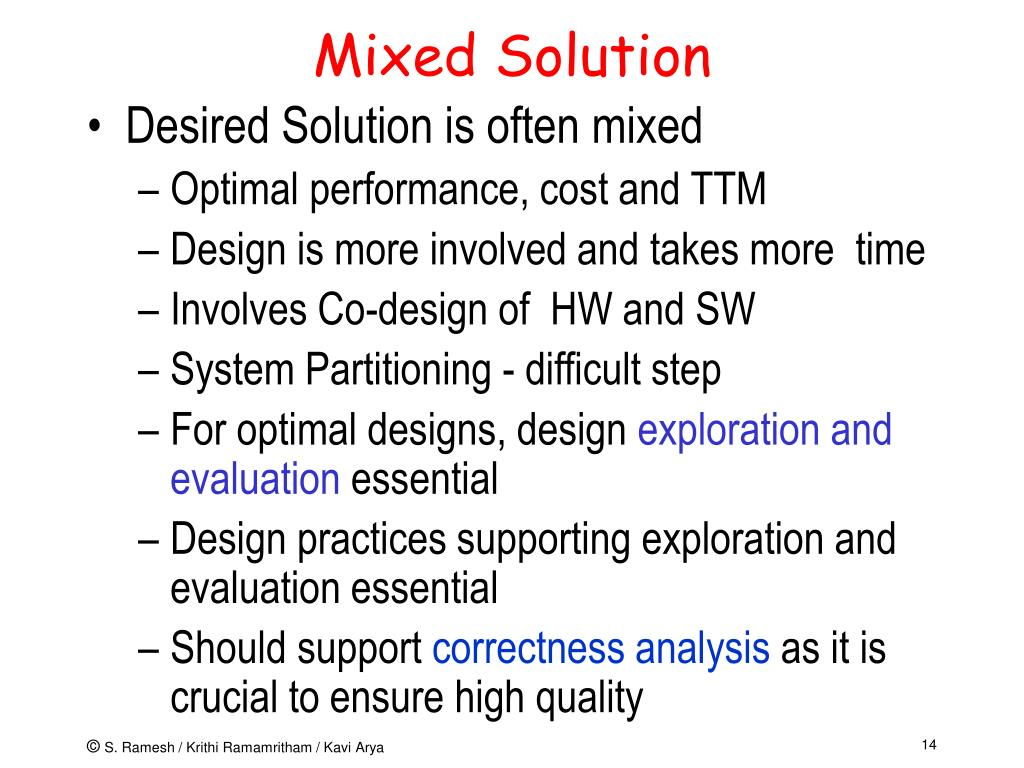Mixed Solution