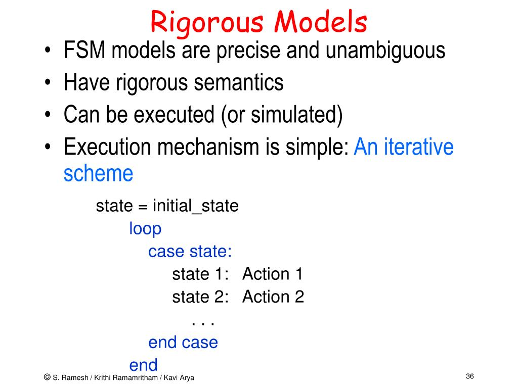 Rigorous Models