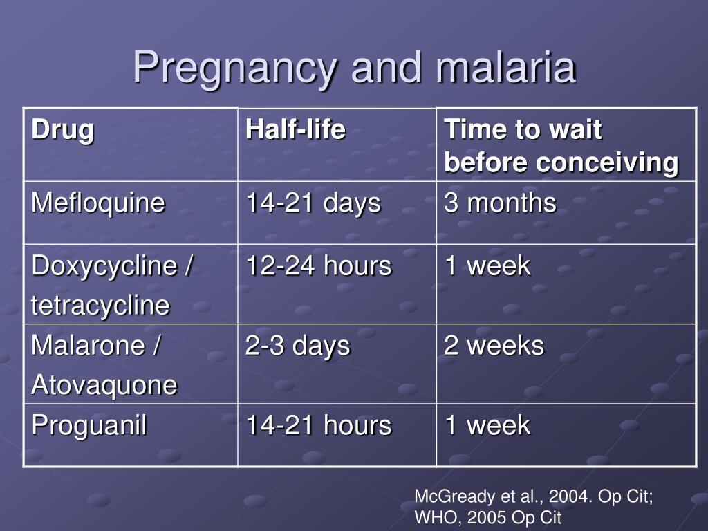 Pregnancy and malaria