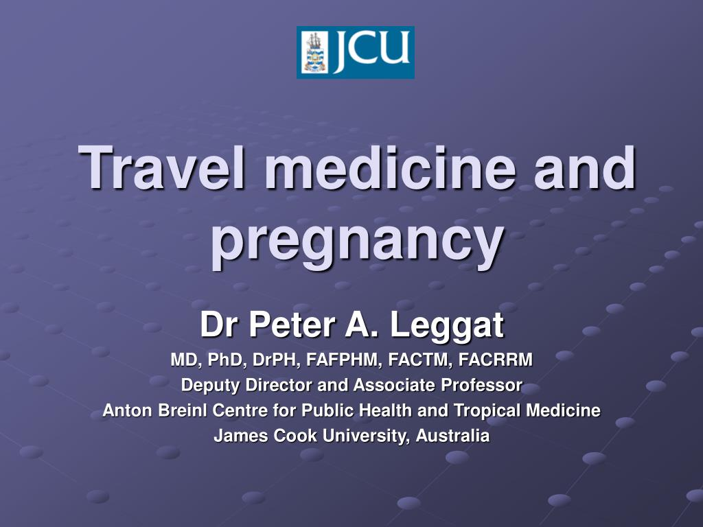 travel medicine and pregnancy