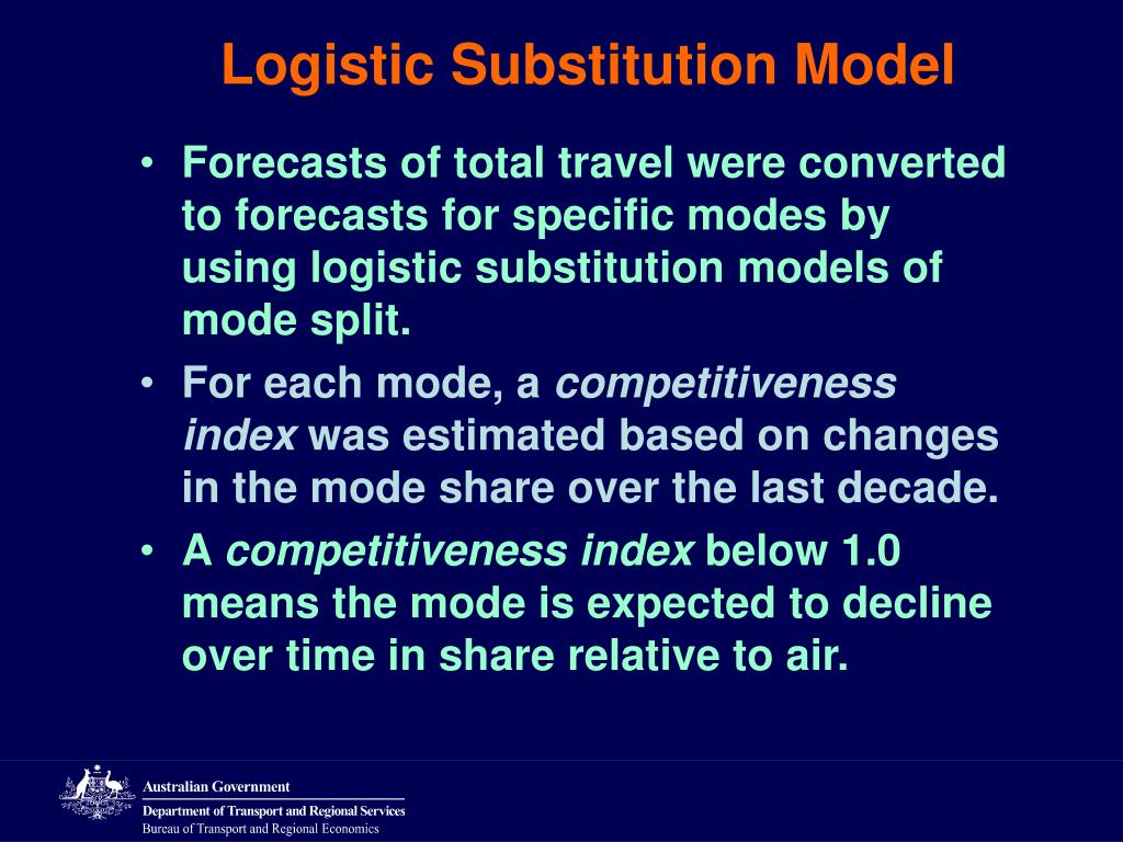 Logistic Substitution Model
