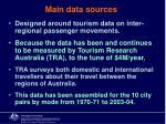 main data sources