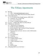 the tiffany apartments